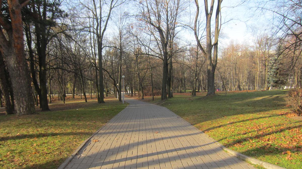 В парках очень чисто.